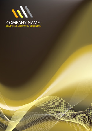 Corporate Business Template Background (Gold design) Illustration