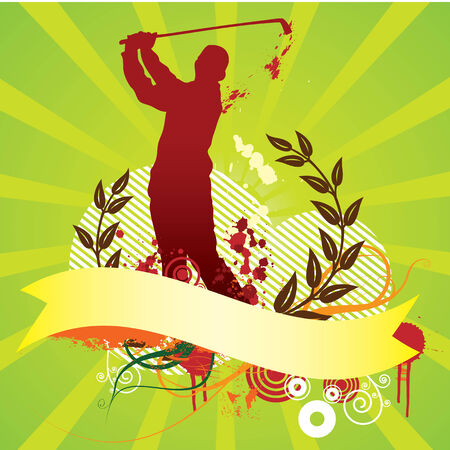 corazones: Colorful golf abstract background Illustration
