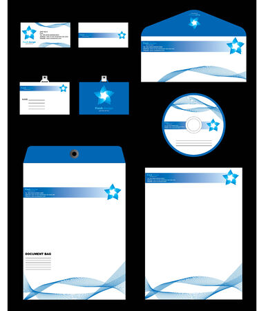 Template vector Identity with blank, envelope and visiting card