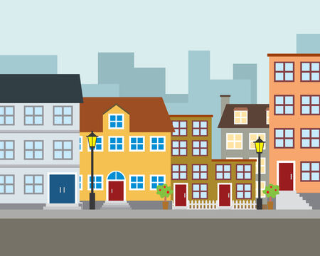 residential neighborhood: Community Illustration