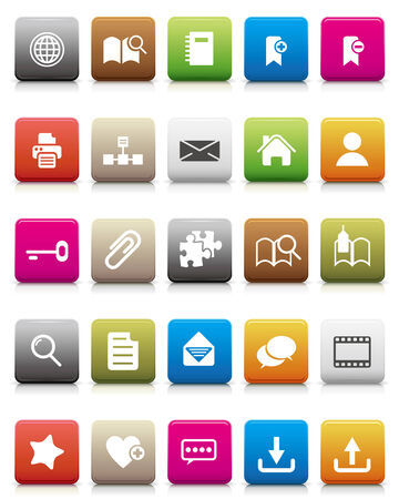 colorful icons -- Internet and Blogs  Illustration