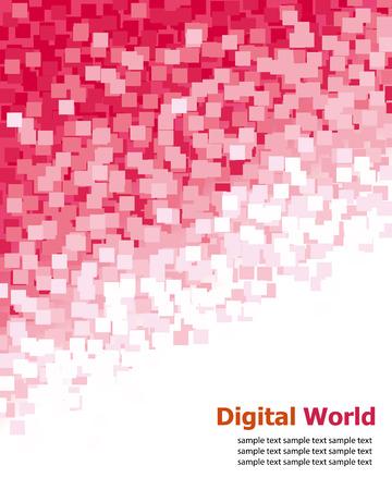 Digital (Red Pixel) Background
