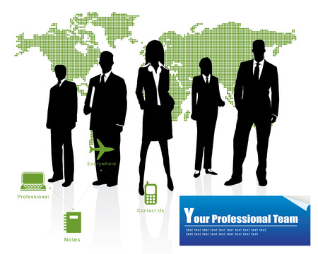 Professional Team -- Corporate Business Template Background  Vector