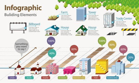 Real Estate Infographic . House Icon Vector