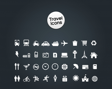 cell tower: Travel Icon Illustration