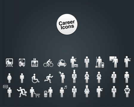 Website and Internet Icons -- People and Career