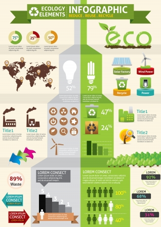 web page elements: ECO & green concept infographic  Illustration