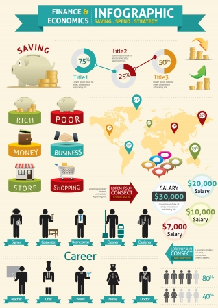 Finance & Economie Infographie Illustration