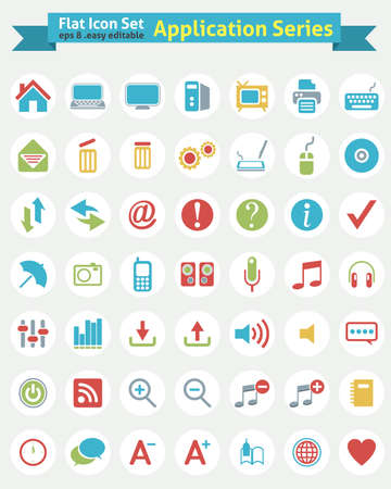 Flat Icon -- Application Series  Vector