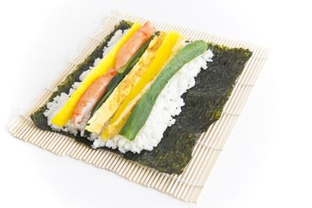 alga marina: Preparar Sushi coreano