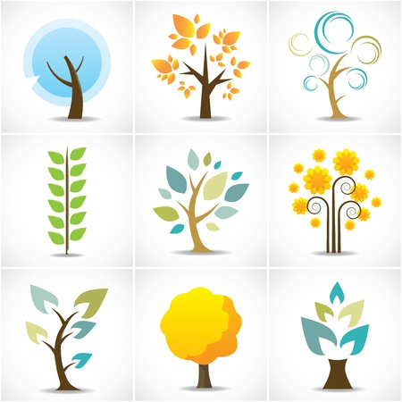 Abstract Tree Icons  Stock Vector - 20010473