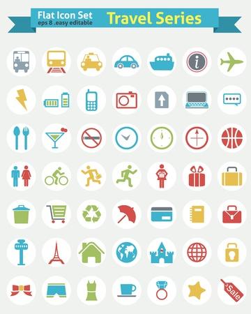 ferry: Flat Icon -- Travel Series