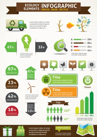 ECO   Green Concept Infographics  Stock Vector - 20010484