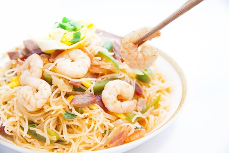 carbohydrates food: Rice Vermicelli  Chinese Noodle  Stock Photo