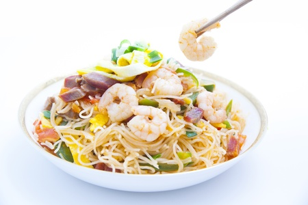 chinese noodle: Rice Vermicelli  Chinese Noodle  Stock Photo