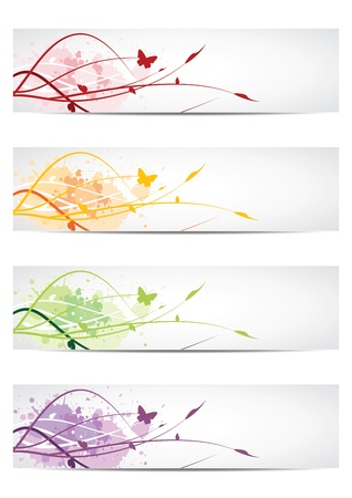 Floral design banners