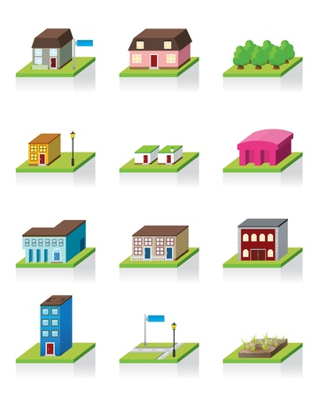 school building: Building Icon -- 3D Illustration