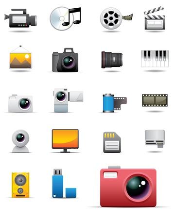 Universal media icons Stock Vector - 20325295