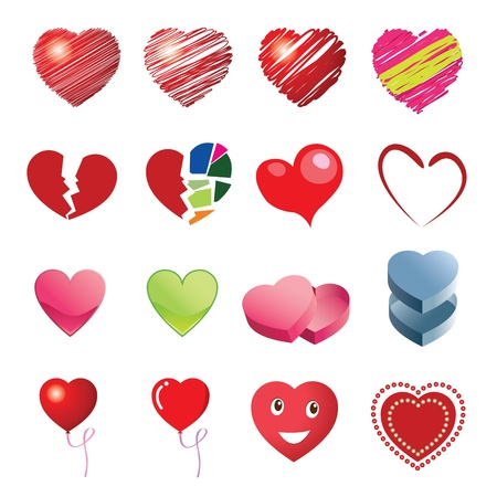 message box: Different style heart icons