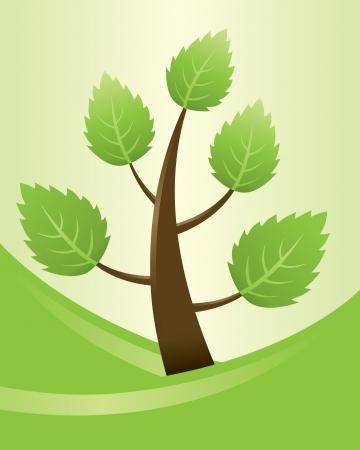 Abstract Swirly Tree  Stock Vector - 20325391