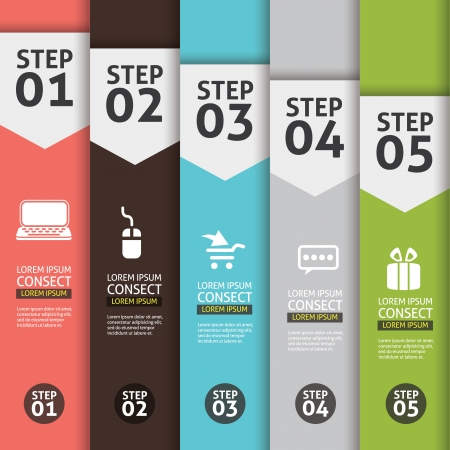Banner Infographics Background Number Options Banner, creative design  Illustration