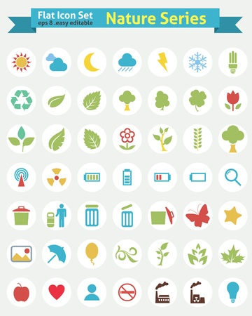 Flat Icons -- Nature Series  Vector