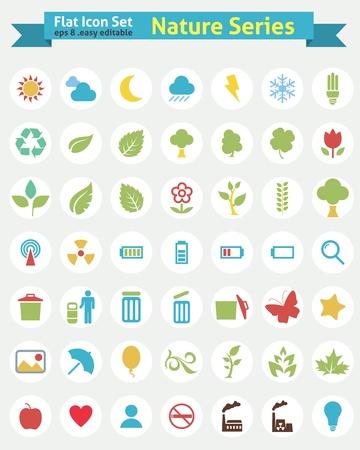 Flat Icons - Nature Series Stockfoto - 20325444