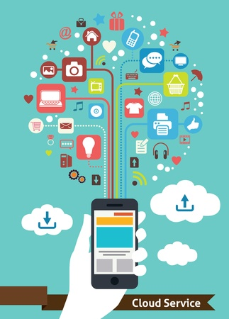 cell phone: Mobile Cloud Service