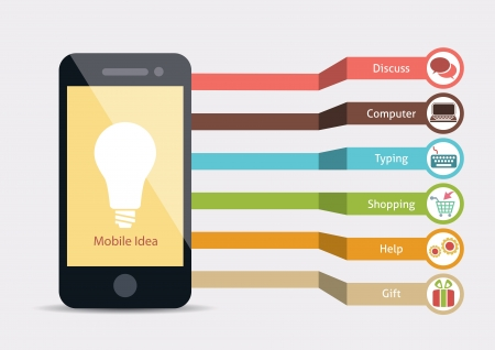 Service mobile Idea Infographie Illustration