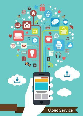 Mobile Cloud Service Stock Photo - 20455129