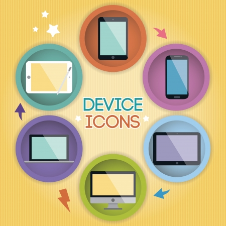 Cartoon Device Icons Stock Vector - 20955410