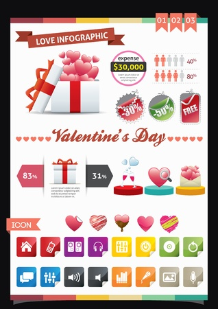 Love Infographics Vector