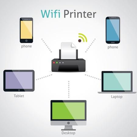 wifi Printer Stock Vector - 20955417