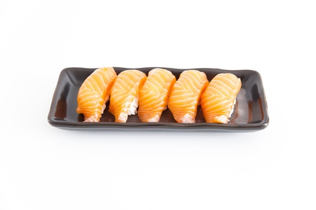 sushi with white background Stock Photo - 21770092