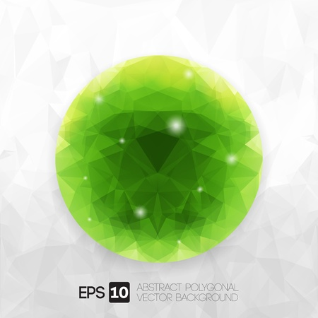 ector modern abstract origami polygonal design (Green Sphere)