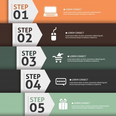 Banner Infographics (Vector Background Number Options Banner, creative design)  Stock Vector - 22208341