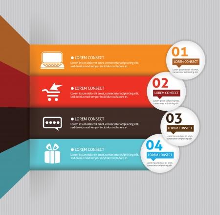 jerarquia: Plantilla para la presentación de negocios con las flechas y las áreas de texto (info gráfico) Vectores
