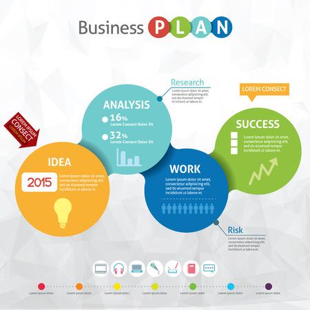 Modern business circle - business pan Stock Vector - 22208345