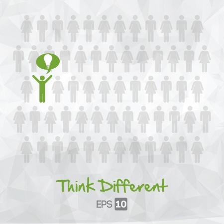 illustration d'icônes de personnes, de penser, de conception d'illustration de vecteur différent