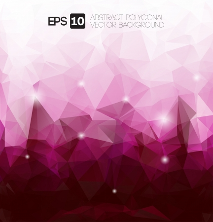 crystals: vector abstract purple polygonal background