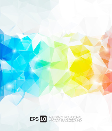 vector abstract polygonal background  Vector