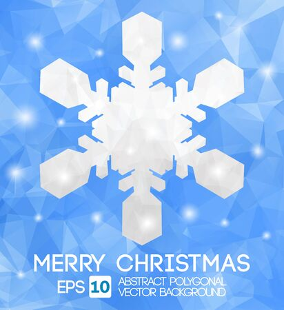 Snow fake christmas greeting card. Vector EPS 10 . Polygonal Illustration Stock Vector - 22208435