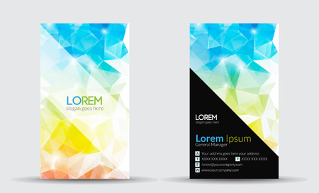 Business Cards - Abstract polygonal background