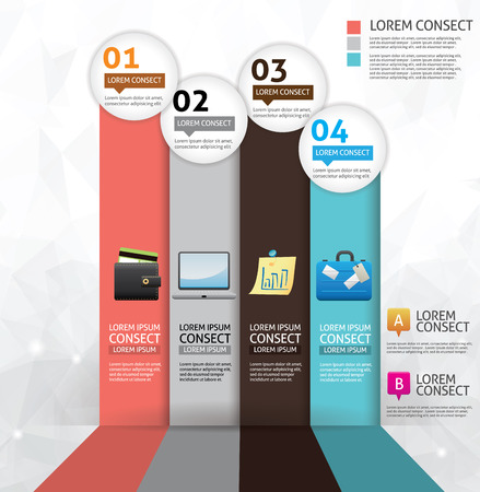 Business concept option infographics Ilustracja