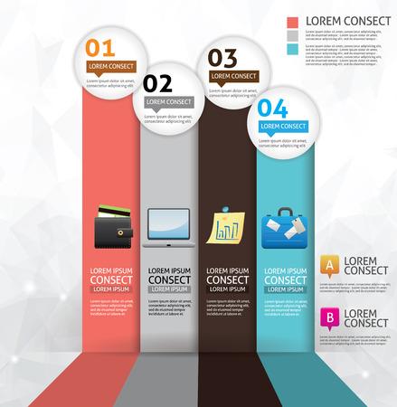 Business concept option infographics Illusztráció