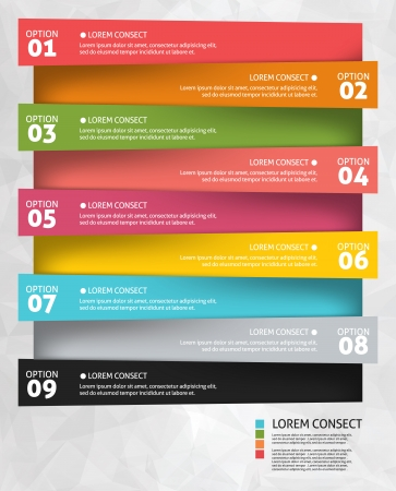 numbers: Modern business options banner. Vector illustration. Infographic and design  Illustration