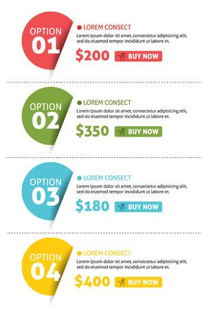 numeros: Vector Opciones N�mero Banner con Buy Button