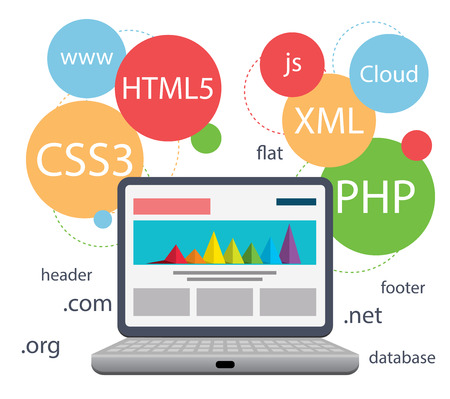 programming code: Web design infographic  Illustration