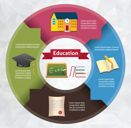 Template for your eductaion presentation (Circle Infographic)  Illustration
