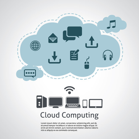 Computer technology, internet communication and cloud computing Vector